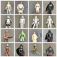 Lot 3.75'' Star Wars Clone Wars Storm Trooper Pilot Figures Lightsaber Base Toys