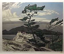 A.J. CASSON group of seven WHITE PINE art print certificate included