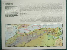 WW2 WWII MAP ~ OPERATION TORCH 8 NOVEMBER 1942 ~ AIRBORNE DROP ZONE LANDINGS
