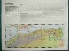 La Segunda Guerra Mundial la segunda Guerra Mundial Mapa ~ operación Antorcha 8 de noviembre de 1942 ~ Airborne Drop Zone aterrizajes