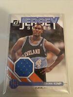 2020-21 Panini Donruss Basketball Jersey Series Shawn Kemp Blue Jersey GAME WORN