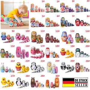 Russische Matroschka Babuschka Puppe Holznistpuppen Baby Spielzeug Geschenke