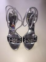 Giuseppe Zanotti Crystal Rhinestone Heels Size 36.5 6.5 Black