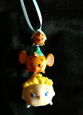 Disney Tsum Tsum Cinderella vinyl Christmas Ornament Gus Gus Susie Mouse stacked