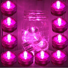 Qty 10 Pink Led Submersible Underwater Tea lights TeaLight Flameless Us Ship