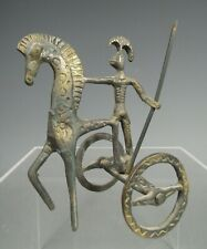 Grand Tour Greek Style Etruscan Brass Chariot & Rider ca. 20th century
