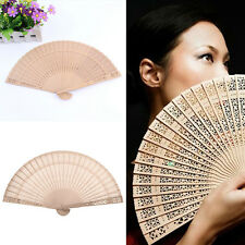 Ladies Fragrant Sandalwood Hand Fan Wooden Scented for Wedding Party Nice