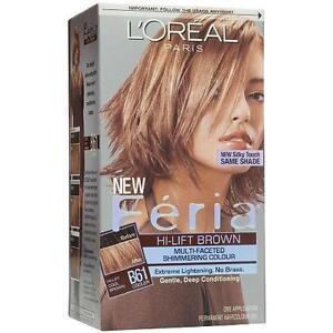 L'Oreal Feria Hair Color #B61, Hi-Lift Cool Brown