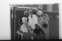 (1) B&W Press Photo Negative New Orleans Play Men in Costume Makeup  - T3862