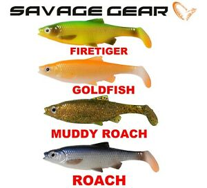 Savage Gear New 3D ROACH River PADDLE TAIL Fishing Soft Lures 3 Shads Predator