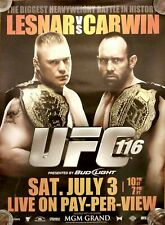 UFC 116:  Lesnar vs Carwin, PPV Promo Poster, Very Good Condition