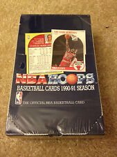 1990-91 BASKETBALL NBA HOOPS SEALED BOX ( JORDAN , BIRD , MAGIC )