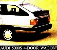 1985 AUDI 5000S WAGON FACTORY BROCHURE-AUDI 5000S WAGON
