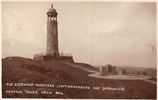 POSTCARD   DERBYSHIRE   CRICH  Memorial  Tower  The  Sherwood  Foresters
