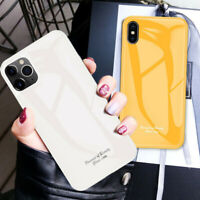 Luxury Marble Tempered Glass Case Cover For iPhone 11 Pro XS Max XR 8 7 6s Plus