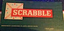 VINTAGE BOXED SCRABBLE FAMILY KIDS BOARD GAME DATED 1954 RARE COLLECTABLE RETRO