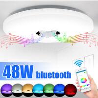 48W Dimmbar bluetooth Lautsprecher RGB Deckenleuchte Deckenlampe APP Steuerung