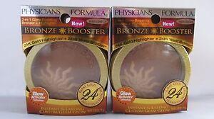 2 x Physicians Formula Bronze Booster Medium / Dark 6428 2 in 1