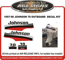 1997 1998 JOHNSON 70 HP  Outboard Decal kit  reproductions