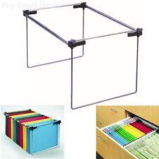 Cabinet Drawer Organizer File Folder Holder Hanging Stand Heavy Rail Metal Desk