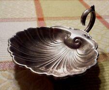 Antique silverplate English E.P.C. SEASHELL footed dish. Beautiful patina. Exc