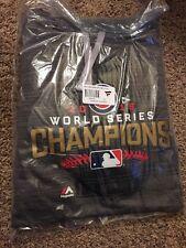 NWT Medium Chicago Cubs Majestic 2016 World Series  Streak Fleece Gray - Champs