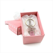 Souvenir Party Gift Wedding Birthday Pacifier Crystal Key Chains Pink