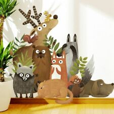 Cartoon Forest Animals Nordic Style Wall Sticker Decal for Kids Play Room