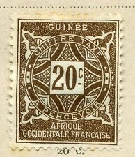 FRENCH COLONIES :;  GUINEE 1914 Postage Due issue Mint hinged 20c. value