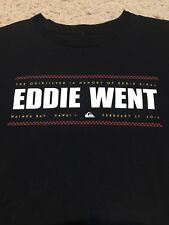 QUIKSILVER EDDIE AIKAU WOULD GO 2015-16 WAIMEA BAY HAWAII MED EDDIE WENT T-