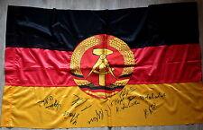 Signatures GDR Selection World Cup 1974 On GDR Flag, RAR, Rarely