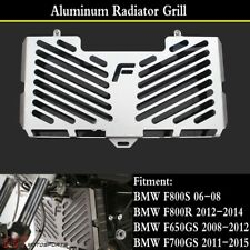 BMW F 800 R Refroidisseur Couverture Eau Radiateur Refroidisseur Protection Black Logo Noir