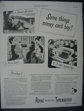 1943 Royal Typewriter Money can't buy a new one WW2 Vintage Print Ad 12430