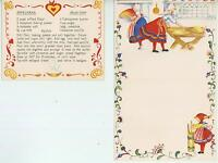 CHRISTMAS FOLK ART VILLAGE CARD VINTAGE BAKER BUTTER CHURN SPRITZ COOKIE RECIPE