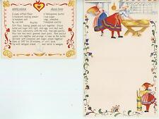 VINTAGE SWEDISH BAKER BUTTER CHURN SPRITZ COOKIES RECIPE PRINT 1 BAKERY TEA CARD