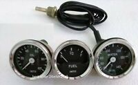 "Smiths Replica 52 mm 2 1/16"" Gauges Kit - Water Temp + Oil + Fuel Gauge"
