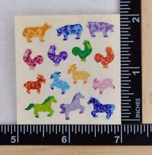 Sandylion TINY FARM ANIMALS Stickers PRISMATIC 1 SQUARE