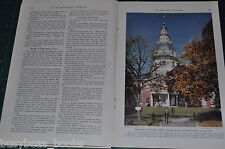 1941 magazine articles about MARYLAND, history, people, etc, color photos