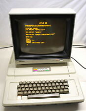 Apple II+ Computer with Sharp Monitor Works Makes a great Christmas Gift