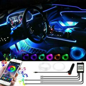 LED RGB Auto Ambientebeleuchtung 6M Innenraumbeleuchtung Lichtleiste App Control