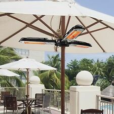 Electric Parasol Heater Infrared Quartz 2000W Outdoor Patio Gazebo Umbrella