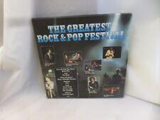 THE GREATEST ROCK AND POP FESTIVAL 9047/3 90473 K-TEL VINYL LP
