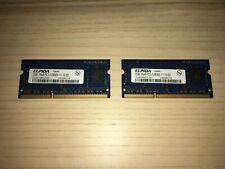 Ram DDR3 1600 Sodimm 2 x 2GB - Elpida 1Rx8 PC3-12800S-11-10-B2 MacBook 4GB Apple