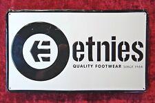 "Etnies Footwear / Large / 19"" X 11"" / Metal / Shop Sign!"