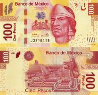 MÉXICO 100 Pesos, 2016, P124, Series BB, Nezahualcoyotl, New Signature, UNC