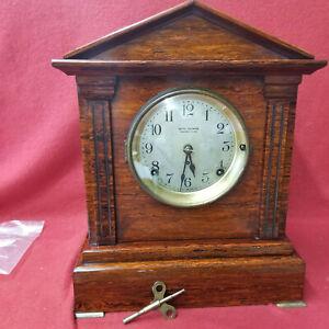 1905 Seth Thomas Red Sonora Chime Adamantine Mantle Clock-Quarter Chime on Bells