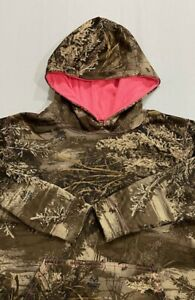 Women's Realtree Max-1 XT Camouflage Hoodie Size M Lightweight Long Sleeve