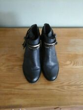 LADIES 'RIEKER' NAVY LEATHER ANKLE BOOTS SIZE UK 5/38