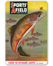 Sports Afield Trout Fishing Cover Metal Sign - 8
