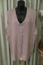 VINTAGE 80'S ~ VIVIANNES  COLLECTION ~ Lilac Cardigan VEST ~ Size M/L ~